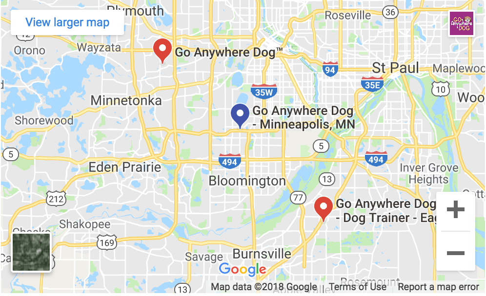 Go Anywhere Dog locations